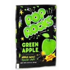 Pop Rocks Green Apple, Pack of 6 Pop Rocks