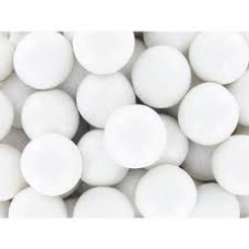Gumballs White 25mm or 1 inch ( 60 counts )-1lb