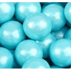 Gumballs Shimmer Powder Blue 25mm or 1 inch ( 57 counts )-1lb