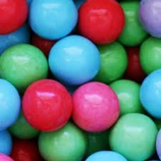 Gumballs Sour Cotton Candy 25mm or 1 inch ( 57 counts )-1lb