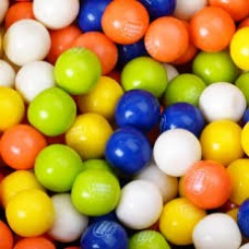 Gumballs Tropical Fruit 25mm or 1 inch ( 57 counts )-1lb